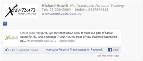 personal trainers email signature