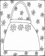 Purse Coloring Pages Coloringpages101 Things sketch template