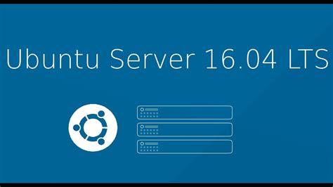 ubuntu server  lts fresh install whats  youtube
