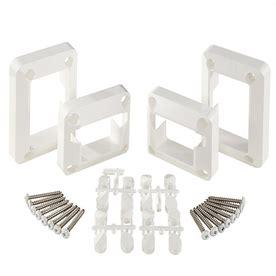shop fiberon 4 pack deck rail bracket at lowes com