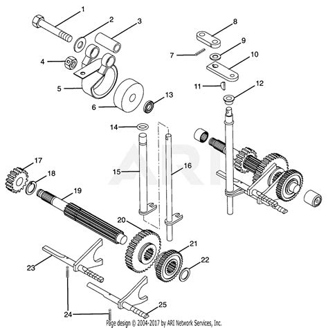gravely 987067 000101 16hp kohler with hydraulic lift parts diagram for number six shaft