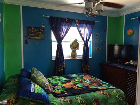 tmnt room jordel blue  green room home decor ideas ninja turtle bedroom ninja turtle