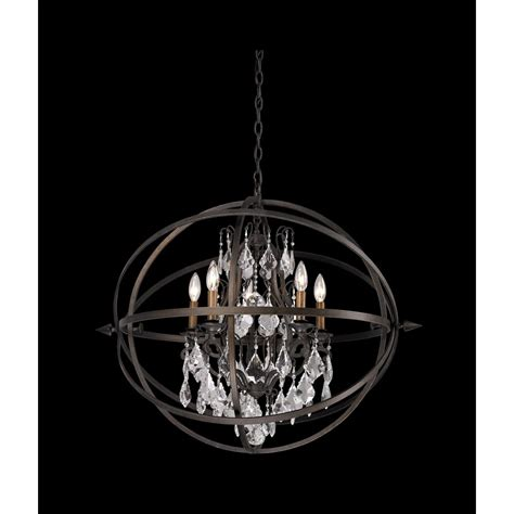 crystal orb chandelier pendant light f2996 destination