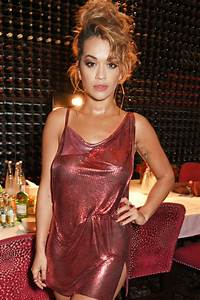 Rita Ora Performs in a Red Sequin Paco Rabanne Dress