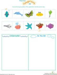 Cut and Categorize Worksheets