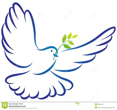 peace dove stock vector image