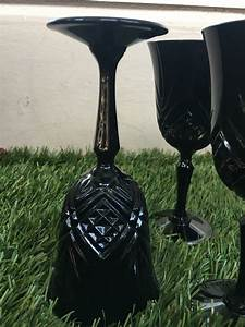 Verre A Vin Noir : verres a vin cristal d 39 arques noir style baroque luckyfind ~ Teatrodelosmanantiales.com Idées de Décoration