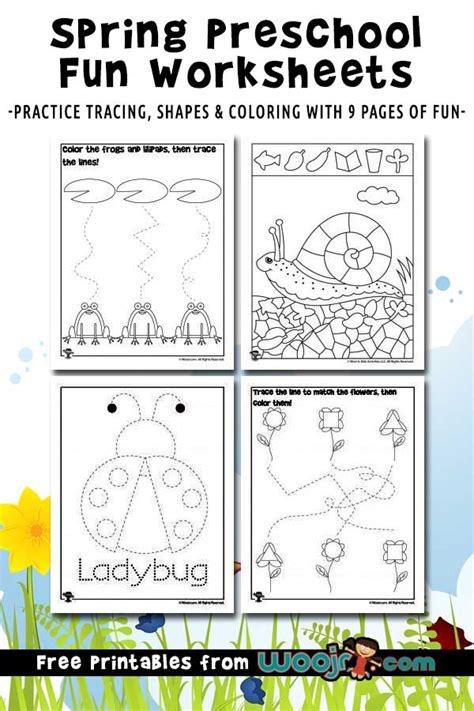 preschool worksheets for shape recognition tracing practice woo jr activities