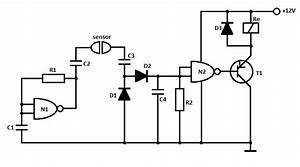 simple water detector circuit With water sensor circuit diagram using ic 555 loublet schematic
