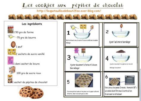 ecole de cuisine de pizza au chocolat cookies au chocolat recette pour la classe