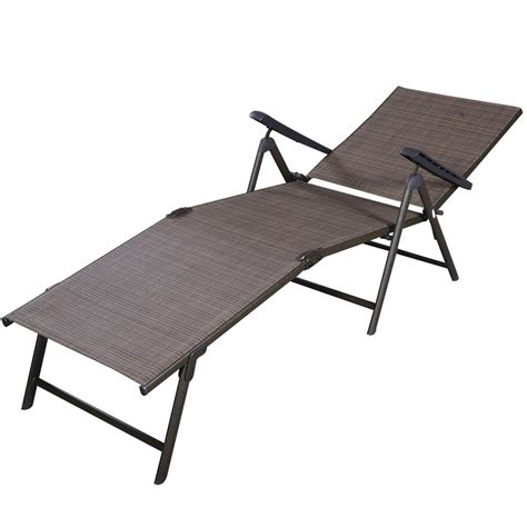 outdoor chaise lounge chairs patio furniture textilene adjustable pool chaise lounge