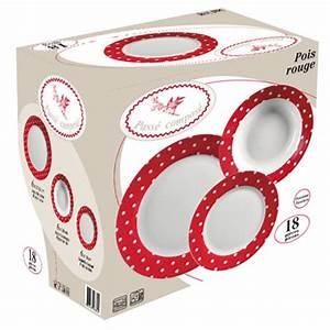 Service A Vaisselle : service vaisselle 18 pieces pois rouge acheter ce produit au meilleur prix ~ Teatrodelosmanantiales.com Idées de Décoration