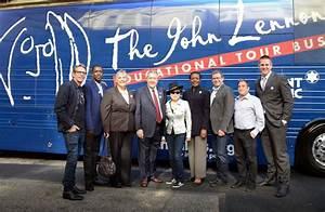 Yoko Ono Brings John Lennon Education Tour Bus To New York