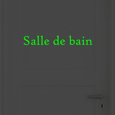 stikers salle de bain pack of 2 doors wall decals quot salle de bain quot and quot toilettes quot glow in the cheap