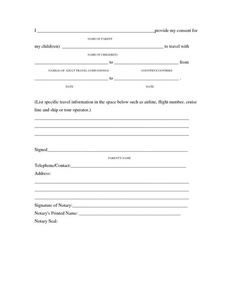 consent letter for children travelling abroad best photos of parent consent letter for minor consent