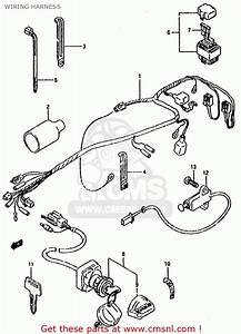Suzuki Lt80 1991  M  General United Kingdom  E01 E02  Wiring Harness