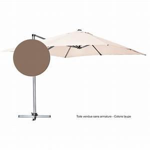 Toile De Rechange Pour Parasol Déporté : toile pour parasol d port 300 cm x 300 cm taupe botanic ~ Dailycaller-alerts.com Idées de Décoration