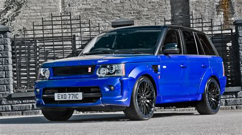 blue land rover imperial blue range rover sport rs300 by kahn design