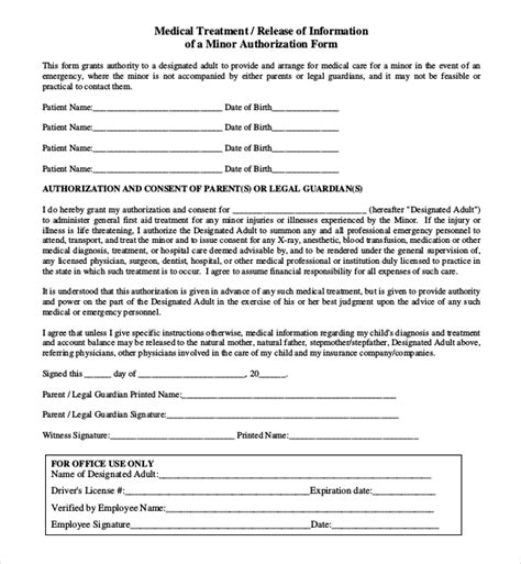 notarized medical release form 8 sle child medical consent forms sle forms