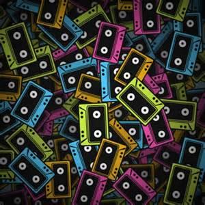 Cartoon 80s Cassette Tapes