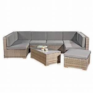 Ebay Gartenmöbel Polyrattan : xxl rattanm bel gartenset grau aus polyrattan lounge ~ A.2002-acura-tl-radio.info Haus und Dekorationen