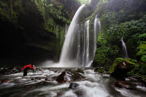 Trekking Mount Rinjani Lombok Island Indonesia Waterfalls
