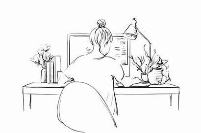 Computer Drawing Drawings Sketch Easy Disney