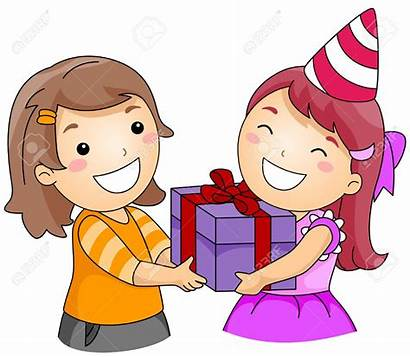 Gift Giving Clipart Present Cartoon Give Dar