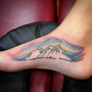 Northern lights mountain tattoo by David Hodges See this ...
