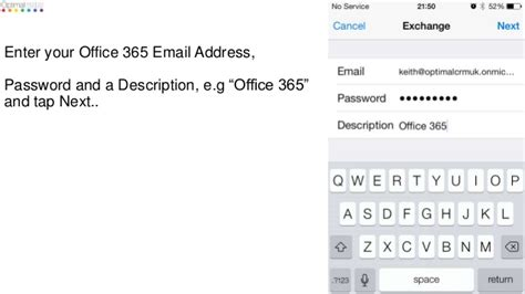 Office 365 Mail Iphone Settings by How To Set Up Office 365 Exchange Email On An Iphone