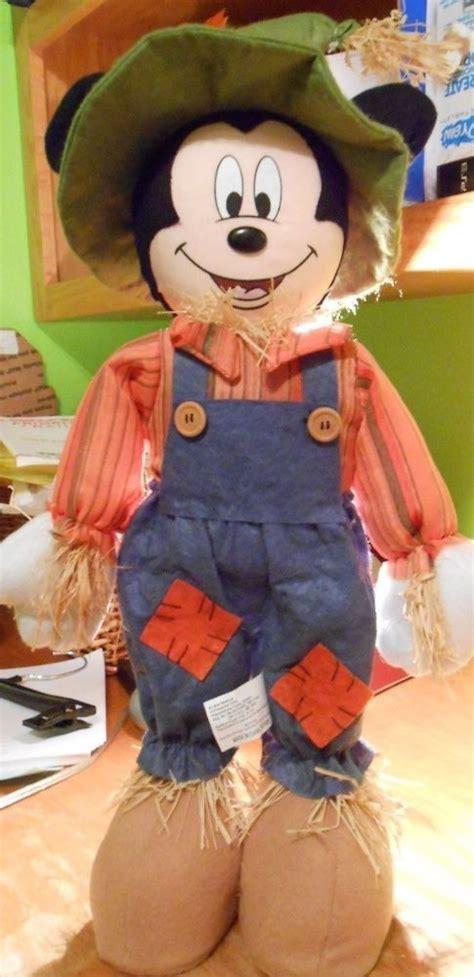 disney mickey mouse scarecrow halloween fall autumn