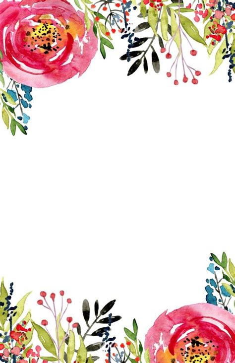 floral invitation template  printable templates