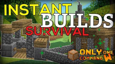 instant survival buildings   command block portable house   youtube