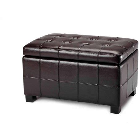 Small Upholstered Storage Bench by Safavieh Maiden Birchwood Bicast Leather Upholstered Small