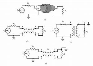 U00b7 Schematic Configurations Of A Coaxial Cable Transformer