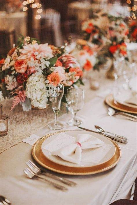 top  fall wedding color combos  steal deer pearl flowers