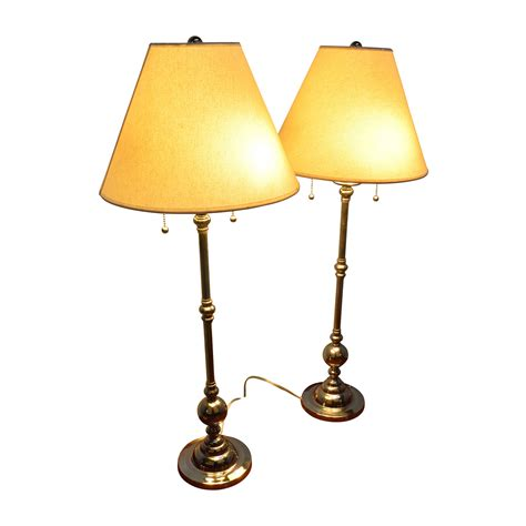88% Off  Two Silver Table Dresser Lamps Decor