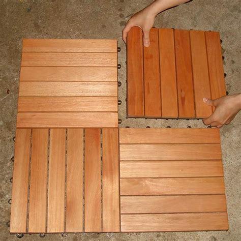 eucalyptus wood interlocking deck tiles