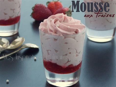 cuisine aid mousse aux fraises et au chocolat blanc sans oeufs le