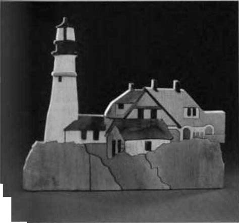 lighthouse scene scroll  woodworking archive
