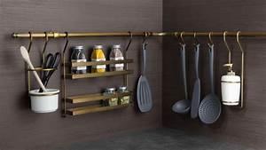 Rangement Ustensile Cuisine : rangement mural cuisine cuisinez pour maigrir ~ Melissatoandfro.com Idées de Décoration