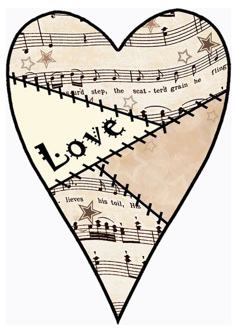 Ten free printable heart sets of various sizes to color and use for crafts and learning activities. ArtbyJean - Vintage Sheet Music: Set 003 - Vintage Sheet ...