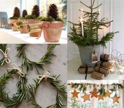 weihnachtsdekorationen ideen tannenzweige zapfen winterlich diy weihnachtsdekoration