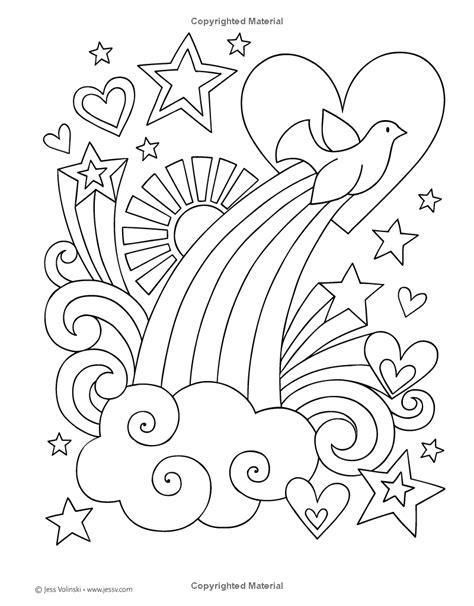 Notebook Doodles - Peace, Love, Music: Color & Activity Book: Jess Volinski: 9781497200180