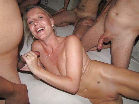 Dutch Blonde Amateur Milf Gangbang With Many Facials 39 Pics