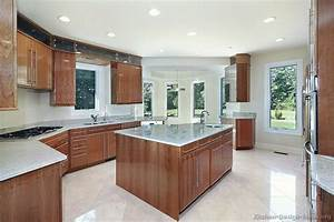 pictures of kitchens modern medium wood kitchen With kitchen color ideas with wood cabinets