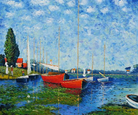 Monet Boats At Argenteuil by Boats At Argenteuil By Claude Monet For Sale Jacky