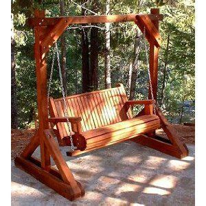 freestanding wood porch swing porch swing frame porch