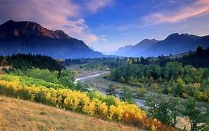 Nature, Landscape, River, Fall, Mountain, Mist, Sunset