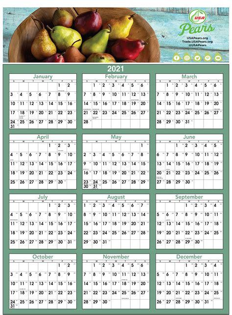 Huge Economical FULL COLOR Year-at-a-Glance Calendar ...
